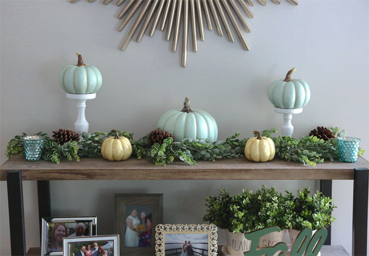 Teal Fall Farmhouse Decor