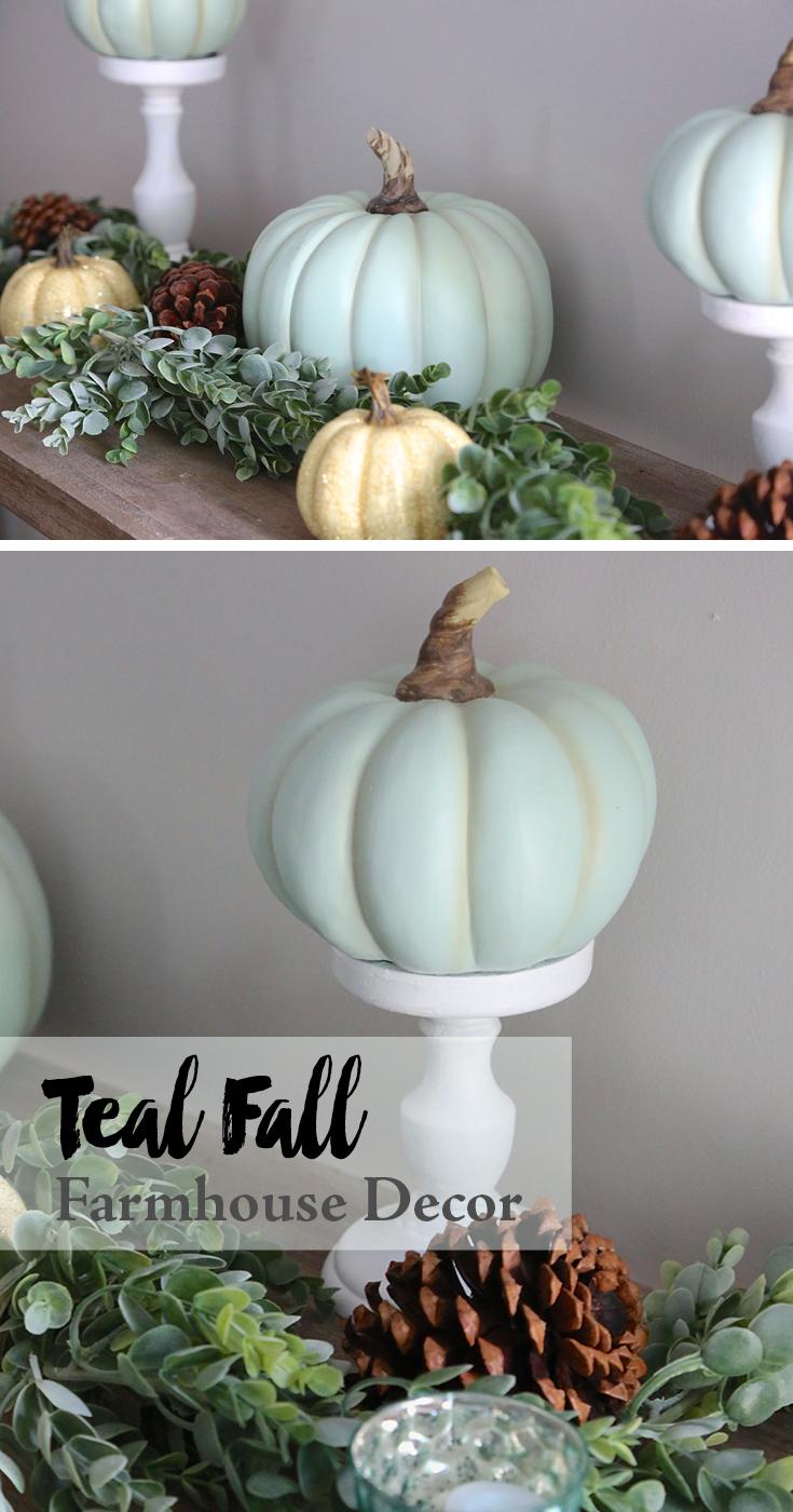 Teal Fall Farmhouse Decor Weekend Craft