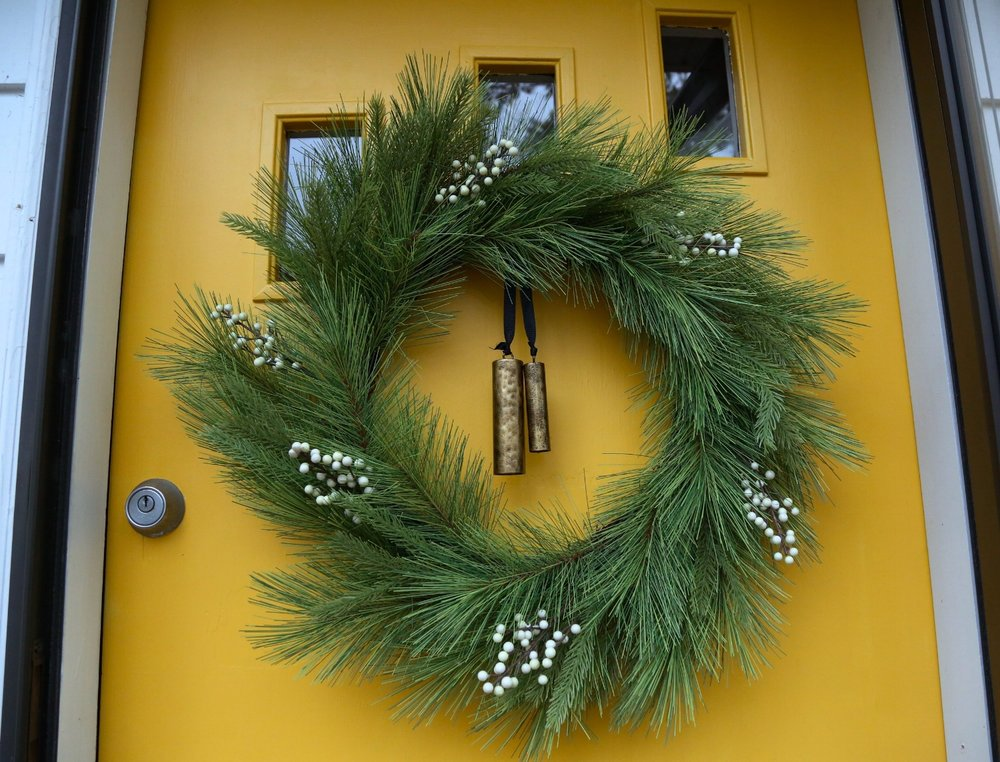 Hearth and Hand Pine wreath with bell