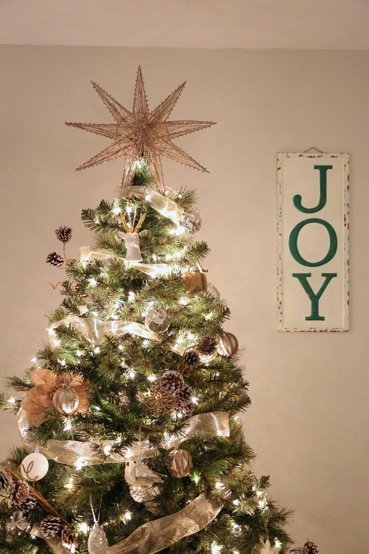 Mixed Metals Neutral Farmhouse Christmas Tree5