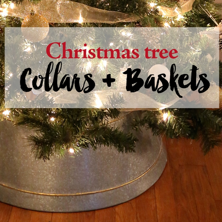 christmas tree collars and baskets  u2014 weekend craft