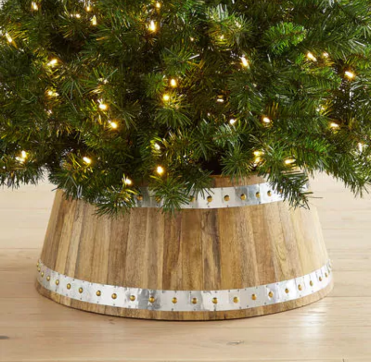 Wood & Galvanized Metal Tree Collar