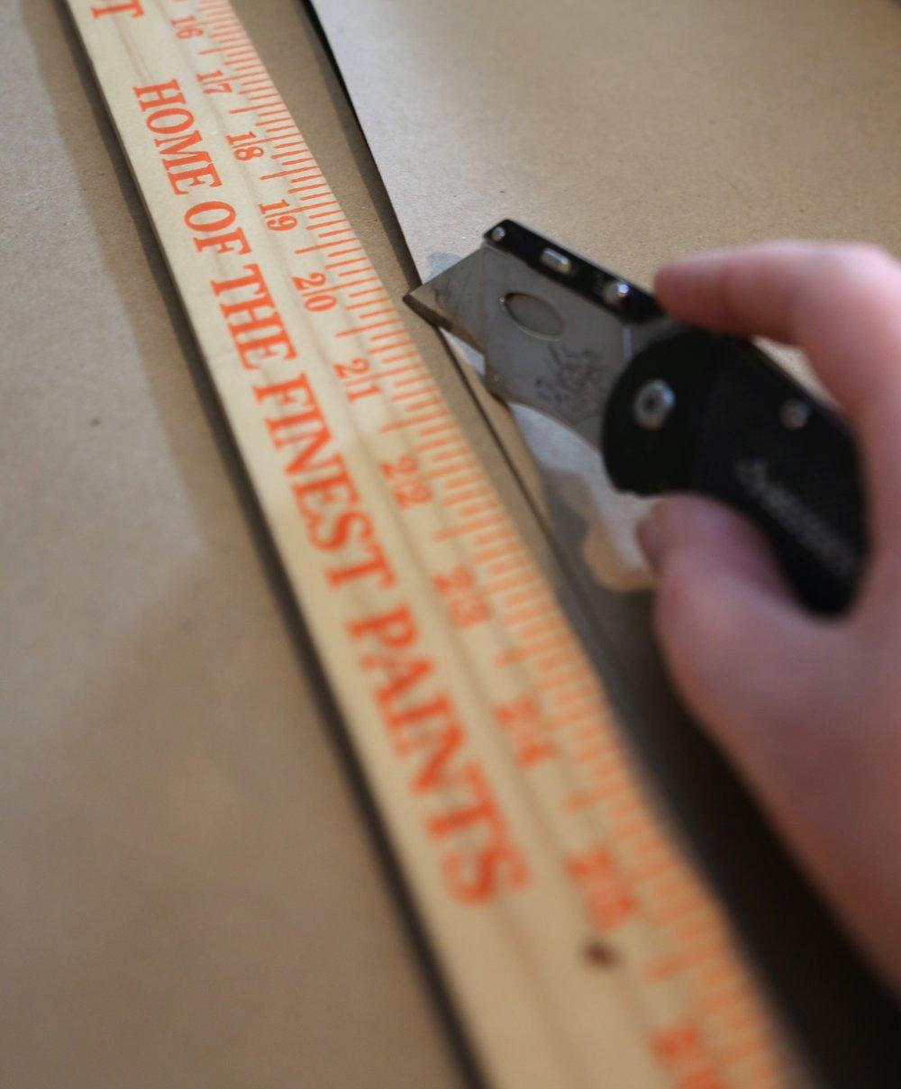 Cutting scroll artwork