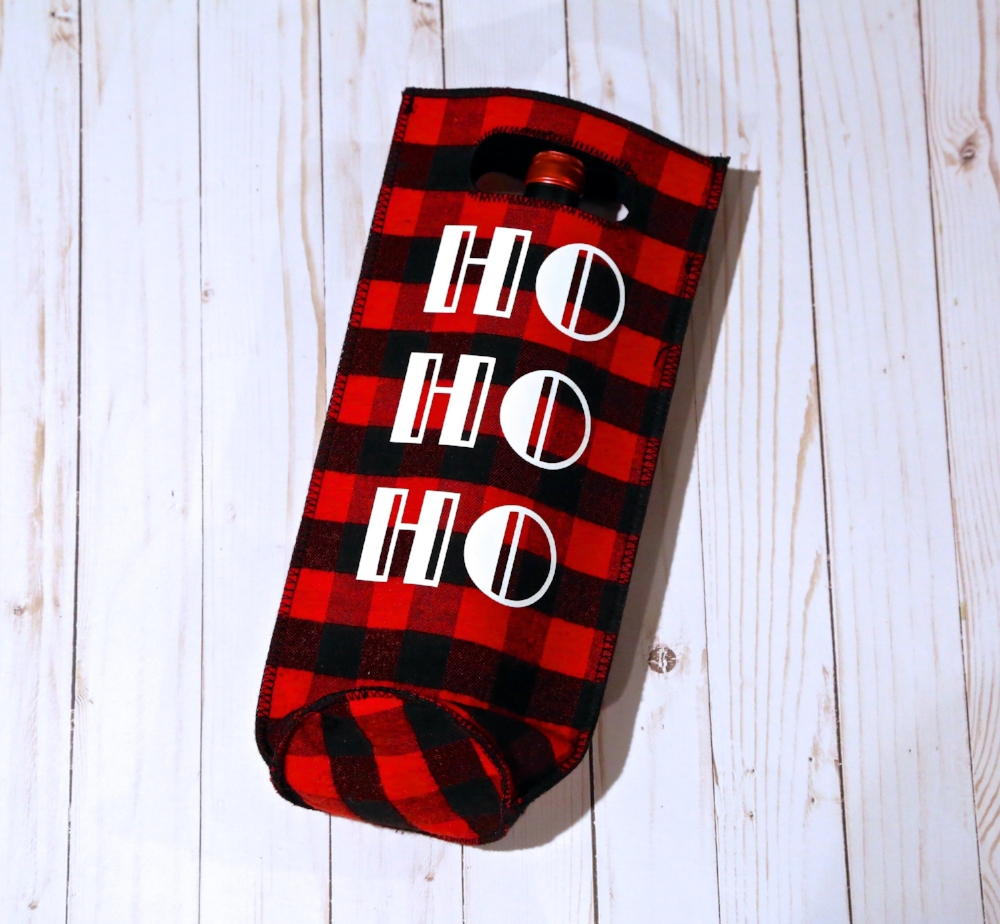 HO HO HO Wine Gift Bag