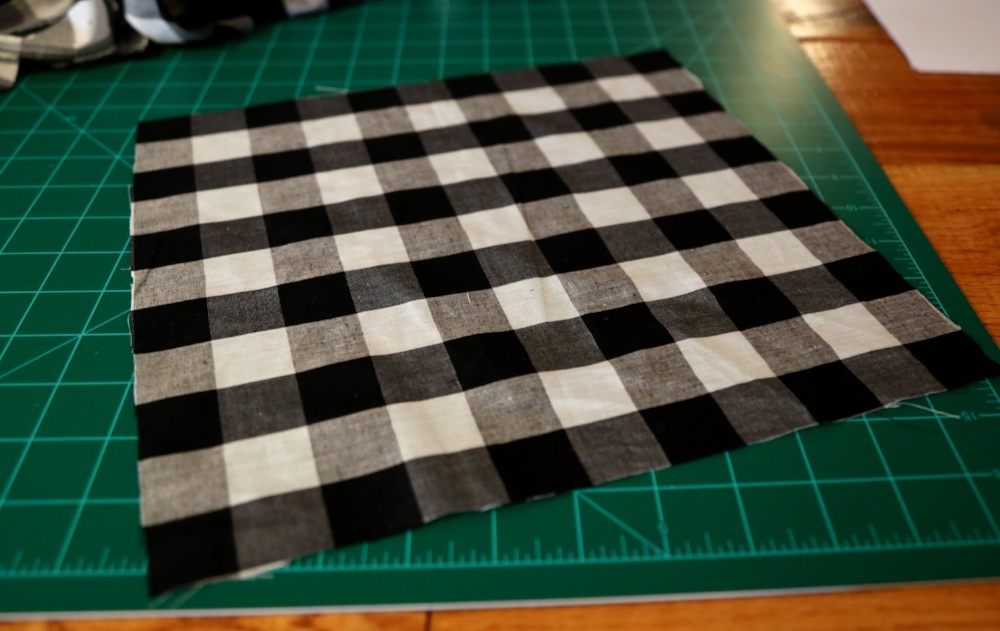 Buffalo check plaid fabric
