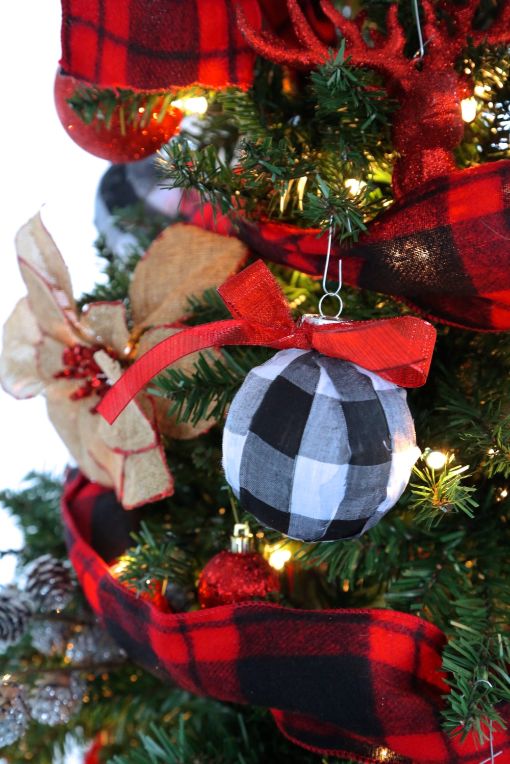 DIY Buffalo Check Plaid Ornaments