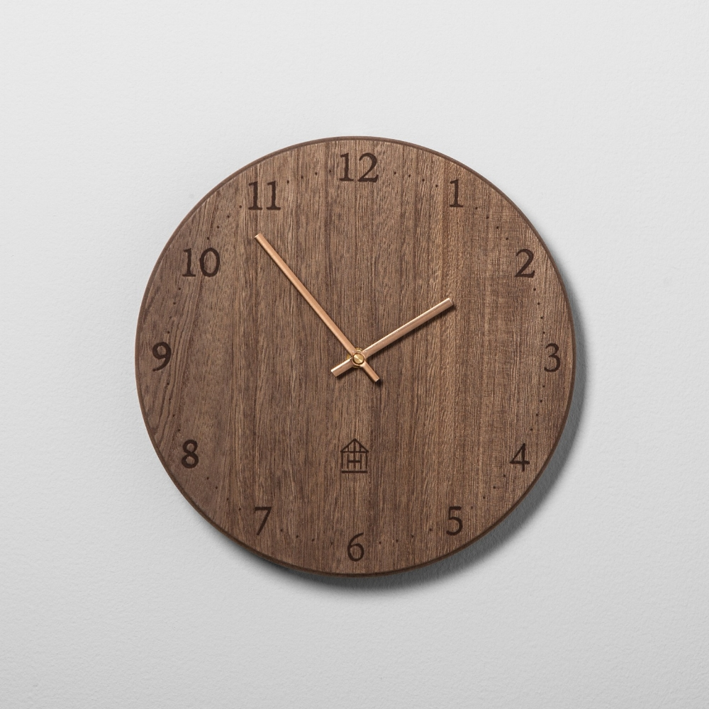 Hearth and Hand Round Wood Clock