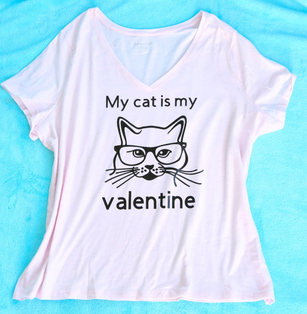 My cat is my valentine tshirt