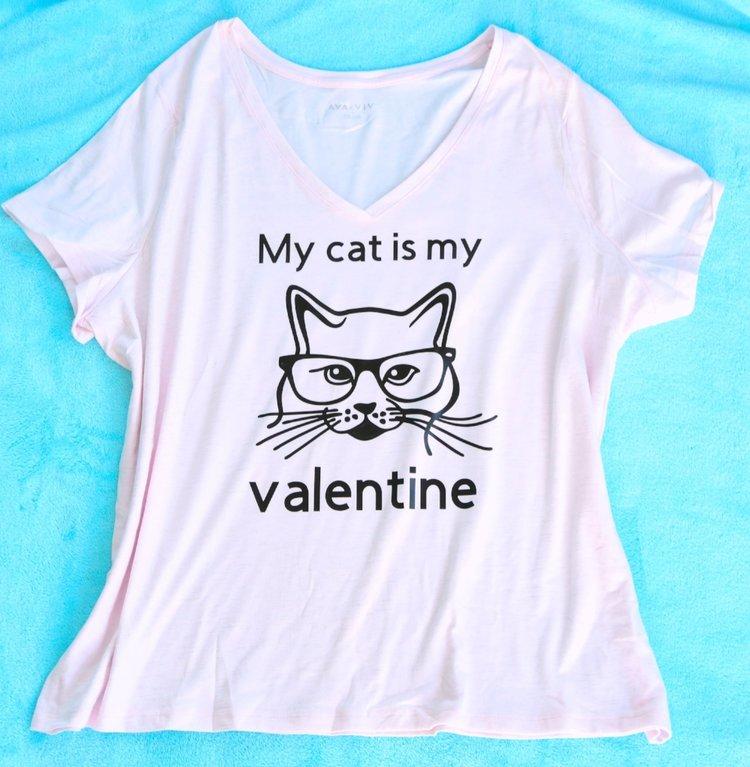 Diy Cat Lady Valentine S Day Shirt Weekend Craft