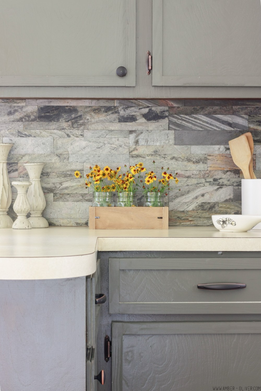 DIY Peel and Stick Backsplash
