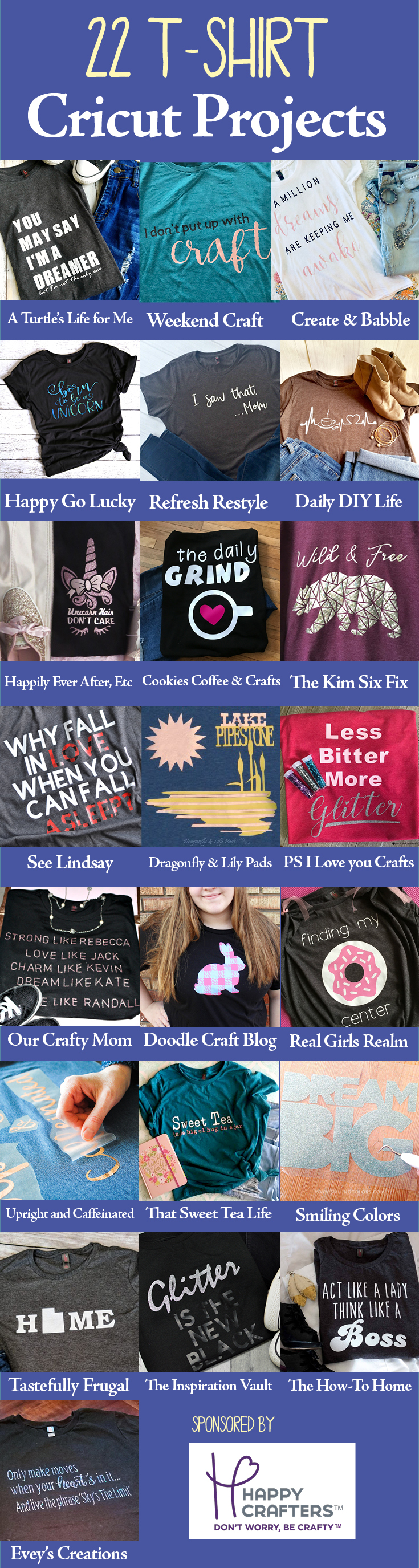 22 Tshirt Cricut Projects
