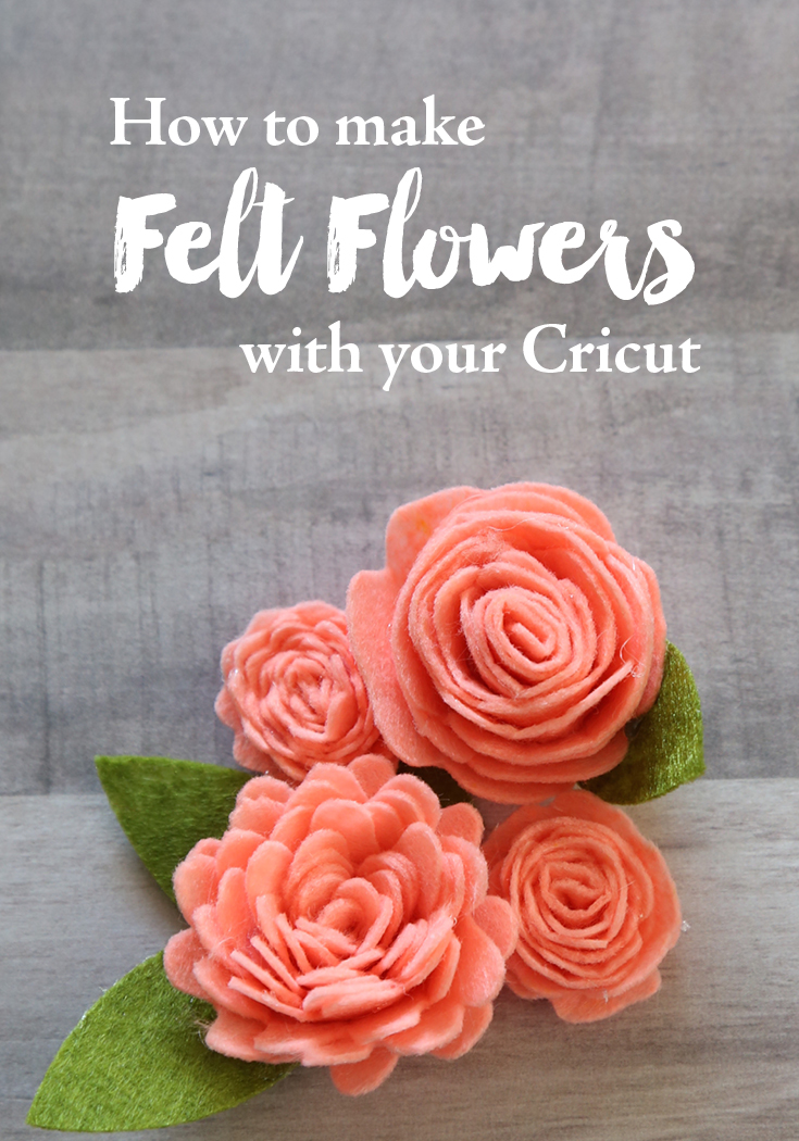 How to make felt flowers with your cricut