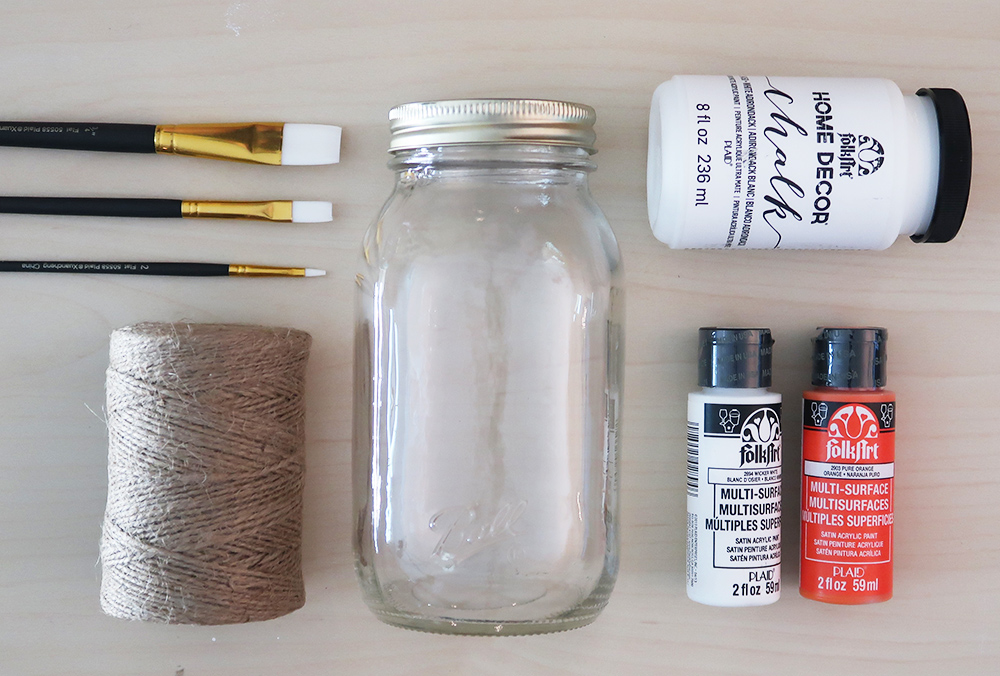 How to paint a buffalo check mason jar 2