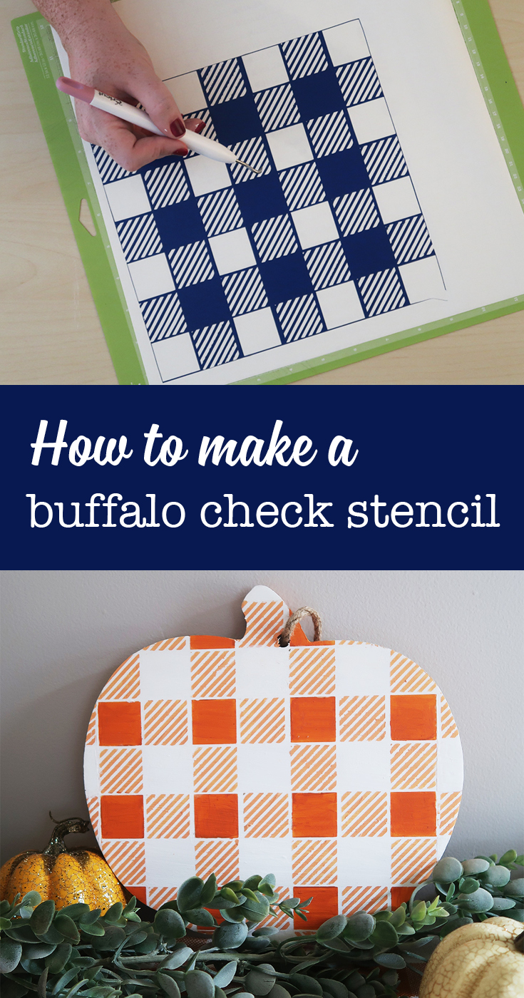 How to make a buffalo check stencil