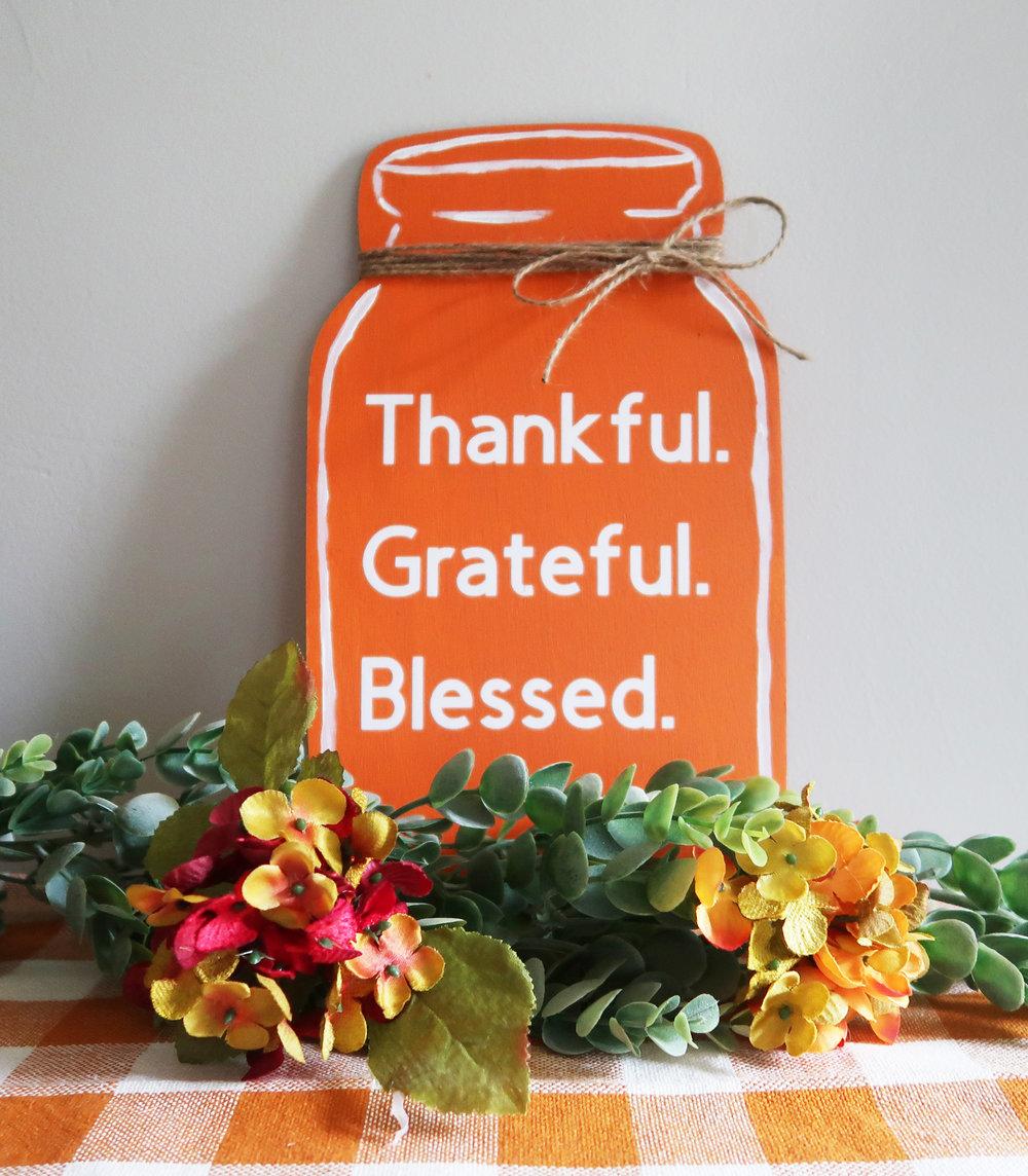 Thanksgiving mason jar sign 1