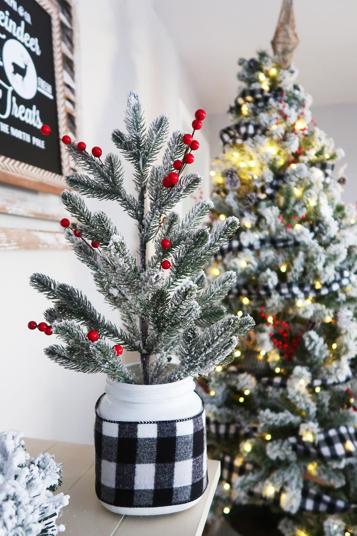 Mason Jar Christmas Tree 2