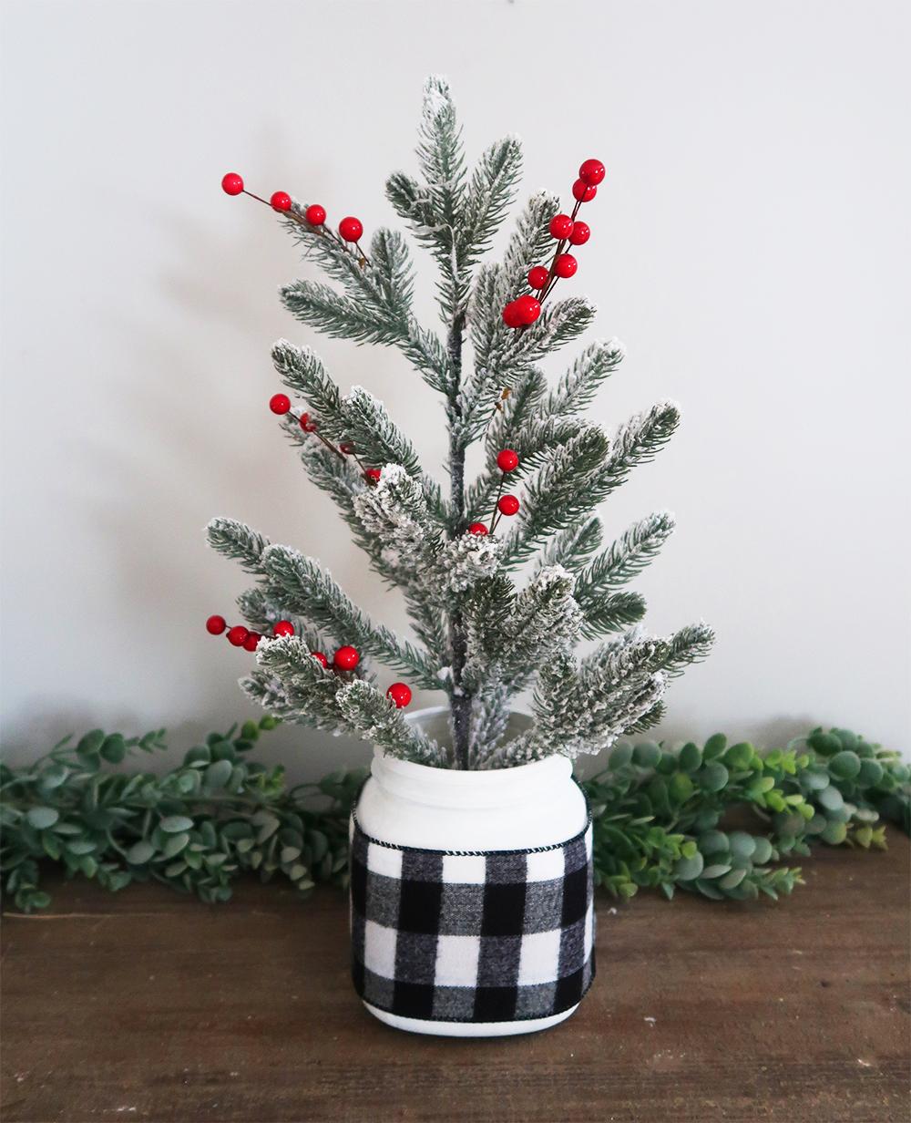 Mason Jar Christmas Tree 1