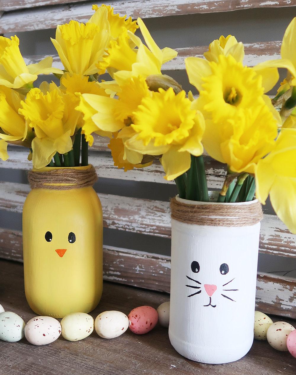 DIY Mason Jar Chick Vase