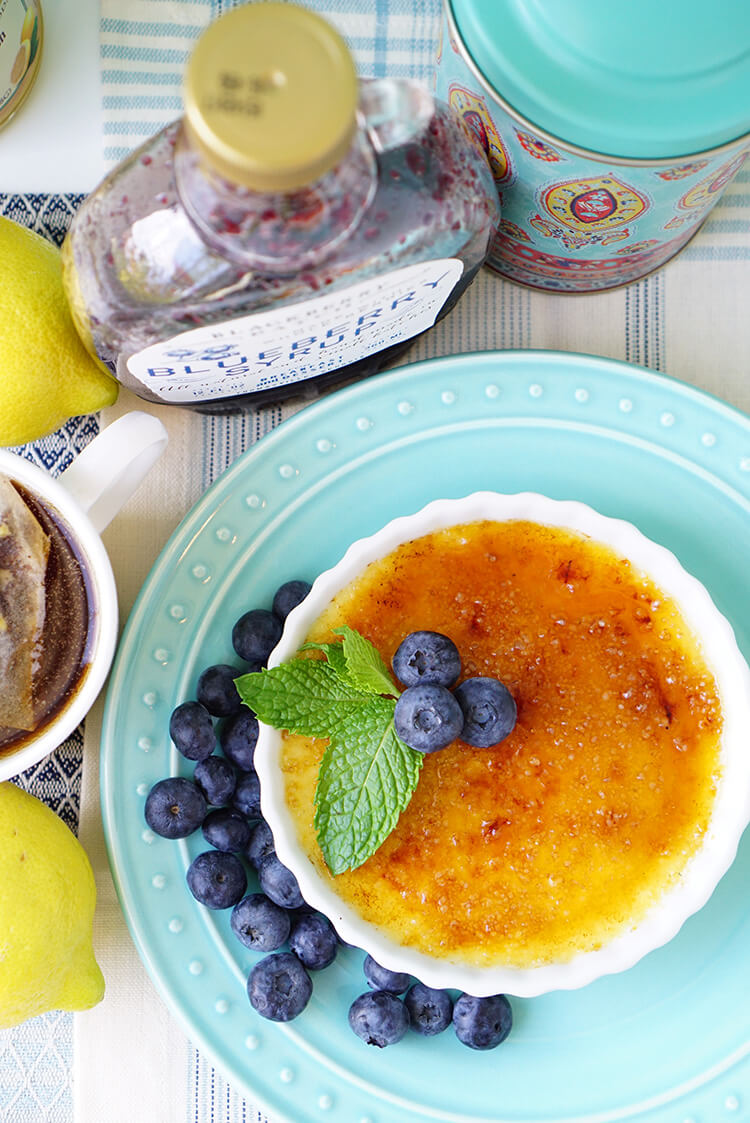 Lemon Blueberry Creme Brulee