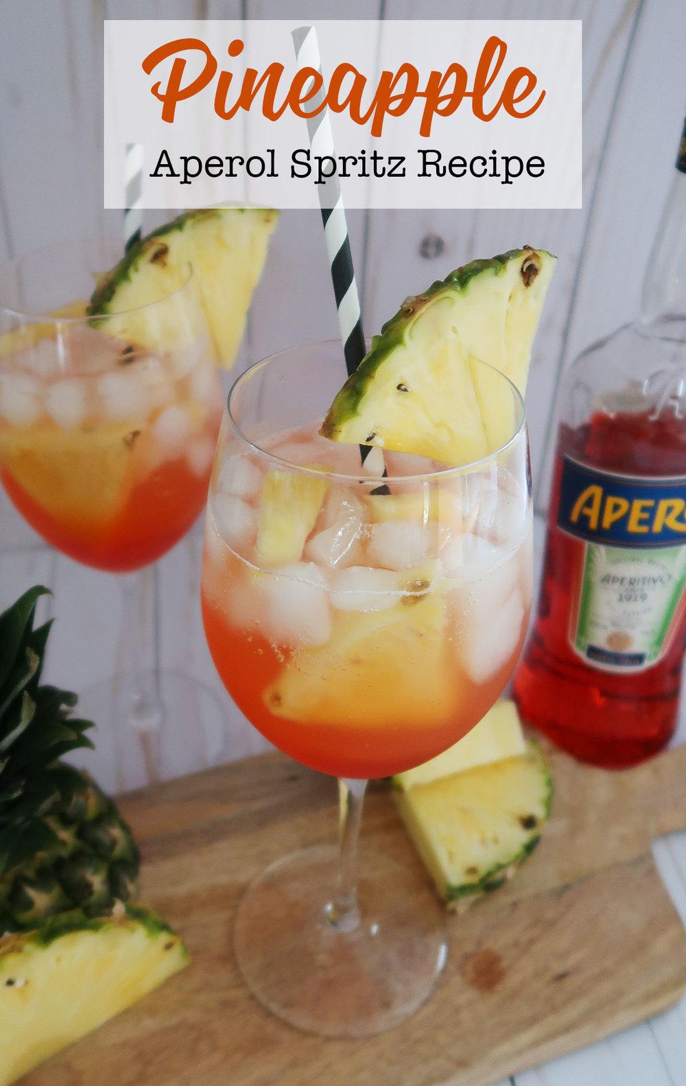 Pineapple aperol spritz recipe