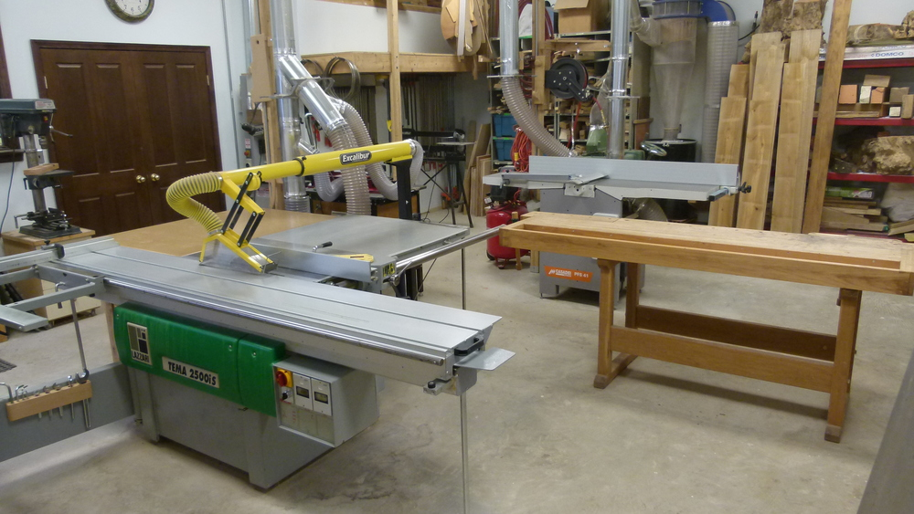 Machine and work bench area of the shop.