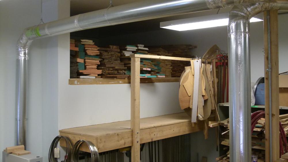 Wood loft.