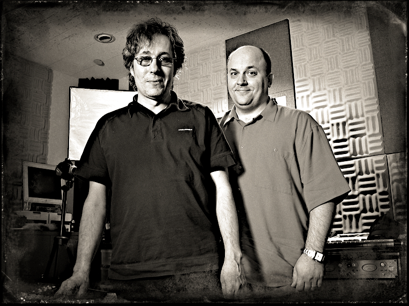 Me & R. Barbieri in my studio at Roland 2009_3.jpg