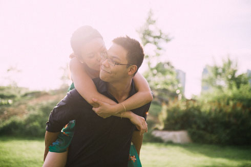 Engagement session at Olympic Village in Vancouver
