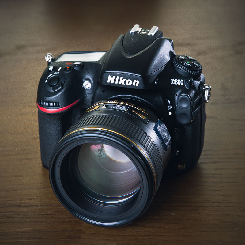 Nikon D800 with 85mm - front