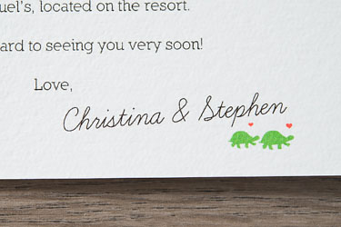 mexican diy destination wedding - welcome cards