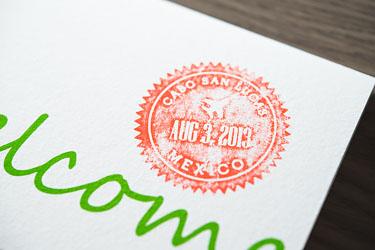 mexican diy destinationwedding - welcome cards