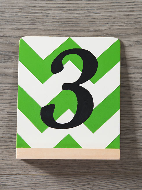 mexican diy destination wedding - table numbers