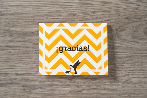 mexican diy destination wedding - thank you cards