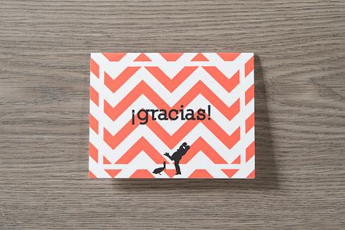 mexican diy destinationwedding - thank you cards
