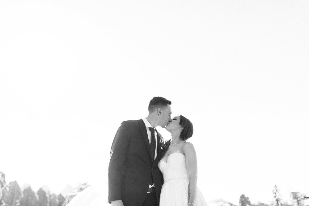 Vancouver wedding photography - bride and groom portraits - black & white