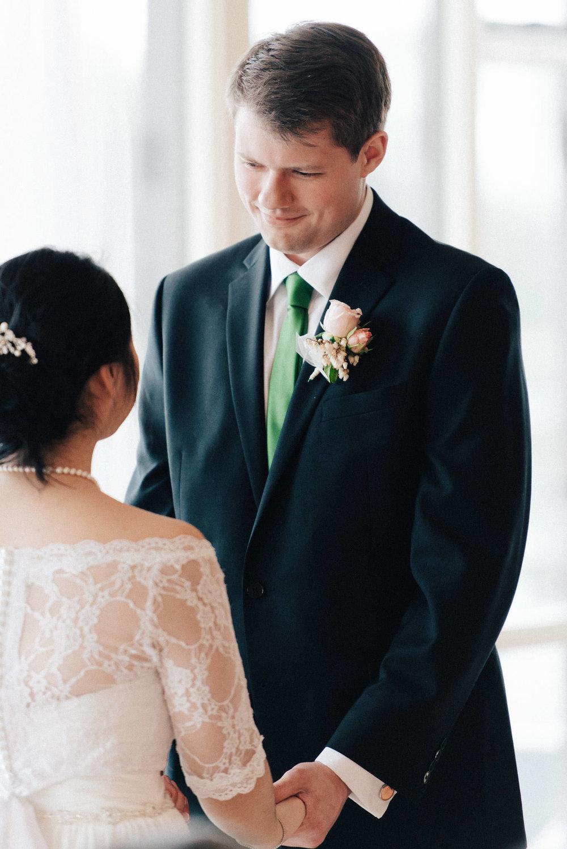 Burnaby Lake Pavillion wedding ceremony