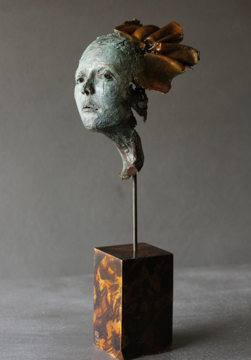 PERFECT FRAGMENT    Bronze with Bronze Base    h.20cm (inc.base)    £275