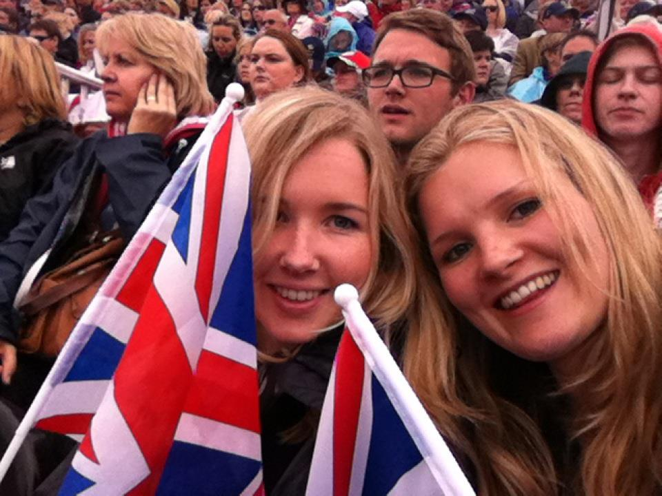 Anna & Sophie at the Olympics