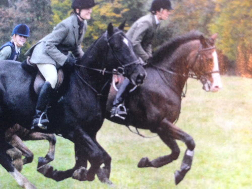 Bert on his first day's hunting with the Old Surrey Burstow & West Kent