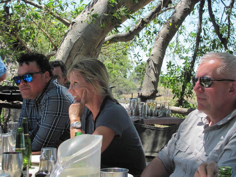 Dan, Julie, Mark Slade Tree House.JPG