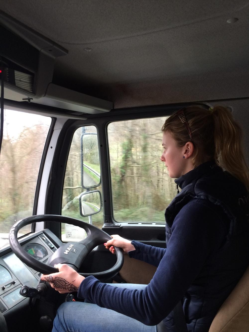 Gemma Jelinska trucking through the Pyranees