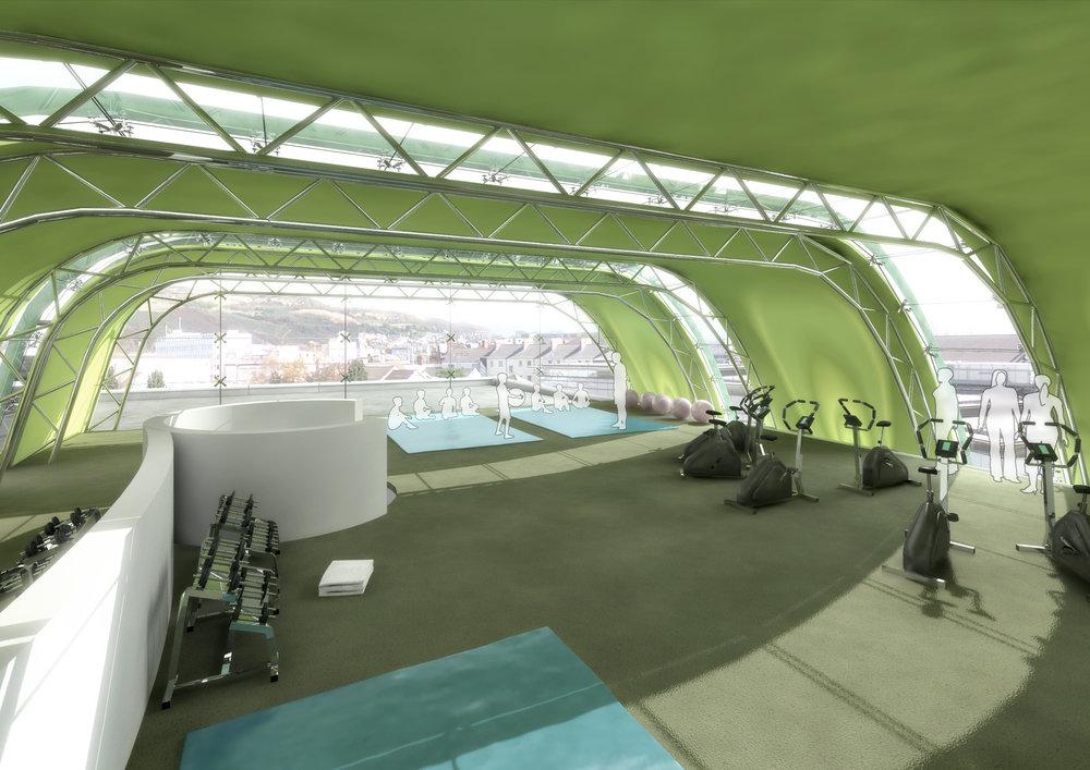 Swansea Leisure Centre Gym CGI