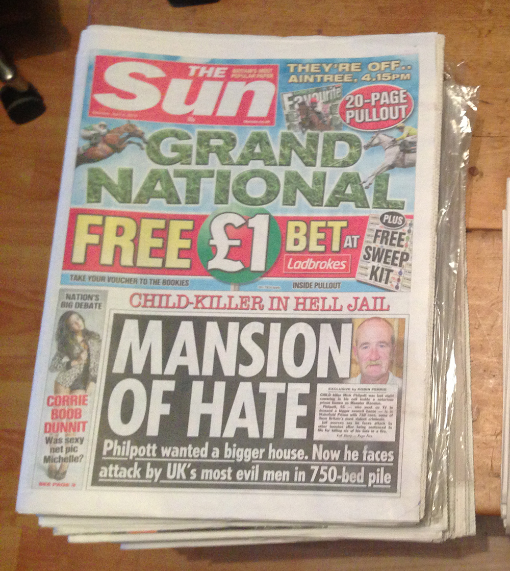 Collecting copies of The Sun pointless and not as much fun as doing it with NI