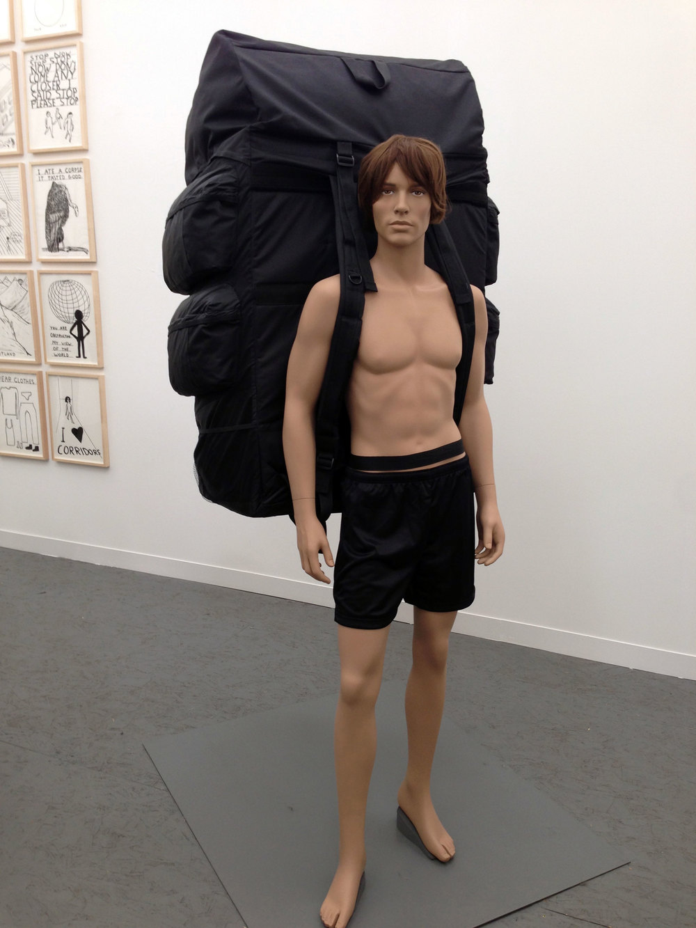 Shrigley's sculpture of a London back-packer would have been more impressive had it been a bit better detailed – more Ron Mueck than Top Man mannequin. And why's he got no shirt on?