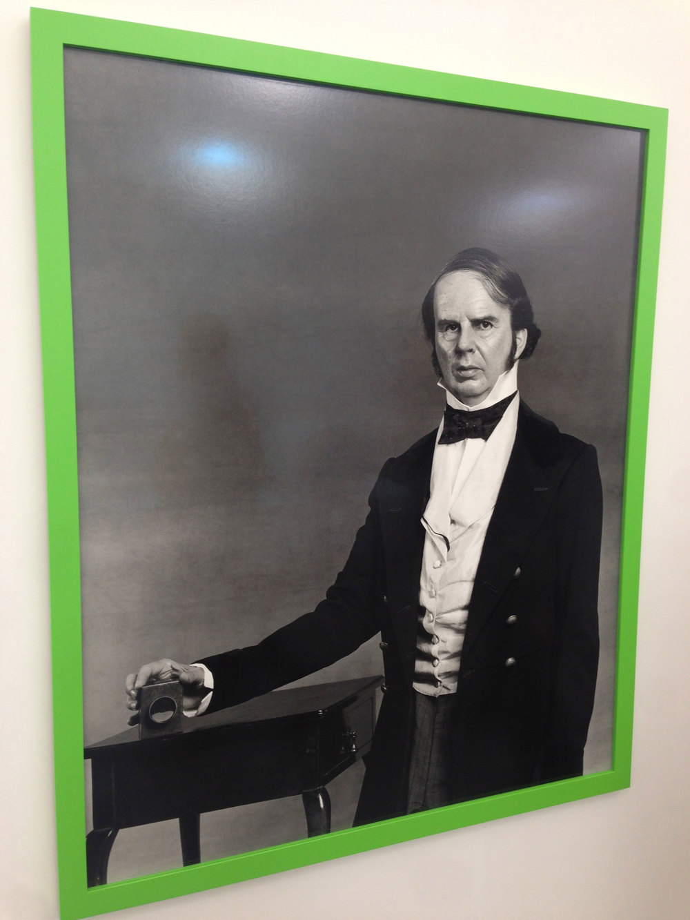 A very nice example of image-as-conceptual-object from Gillian Wearing posing as WIlliam Fox Talbot, inventor of the camera. Not sure about the green frame – was IKEA closed?