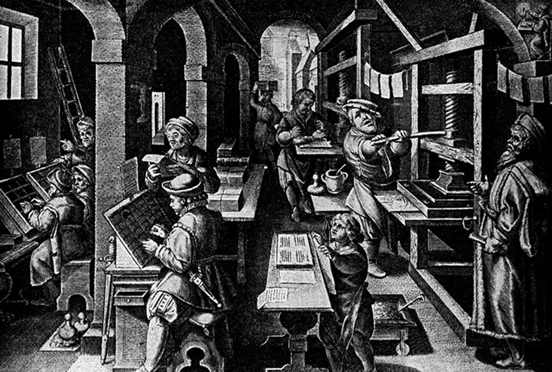 The local medieval print-shop was a perfect local manufacturing hub and still survives today