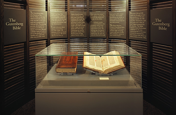 The Gutenberg Bible — now less of a book, more of an artefact