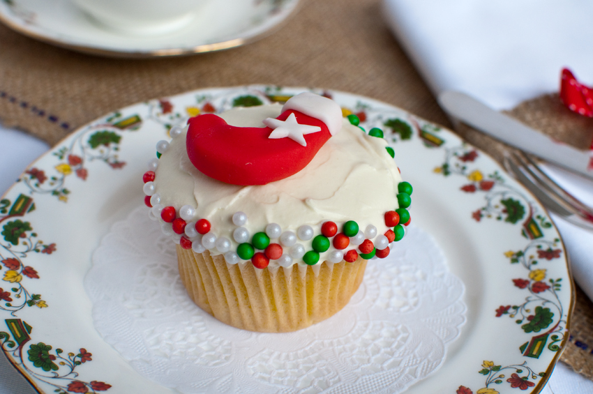 Christmas cupcake by The Chipping Norton Tea Set