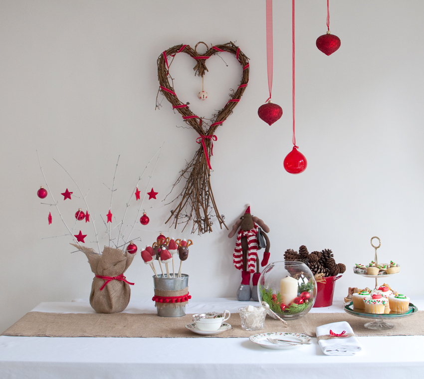 Christmas tea party setting by The Chipping Norton Tea Set