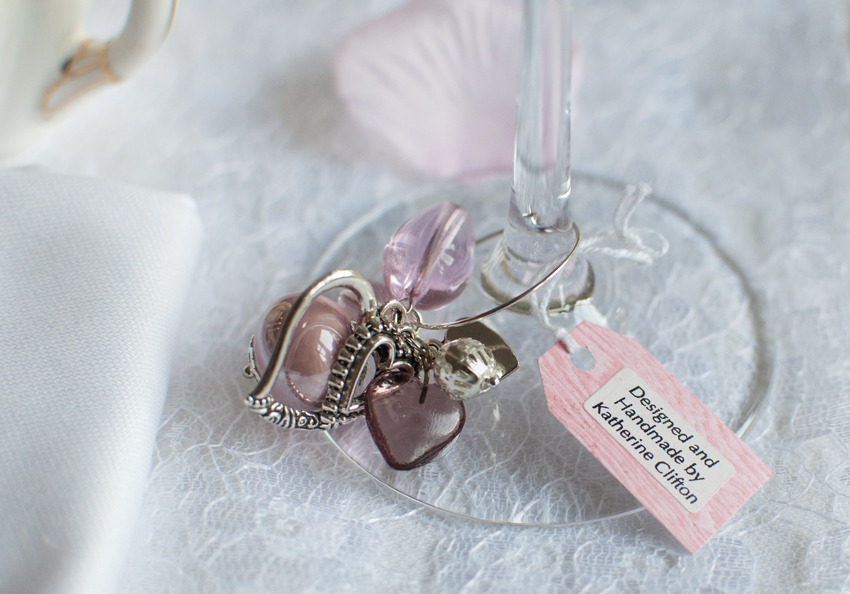 Valentine wine charm by The Chipping Norton Tea Set